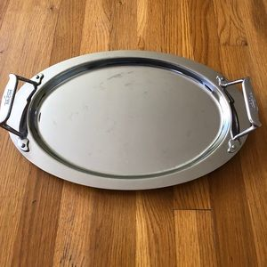 All Clad Stainless Steel Serving Oval Tray